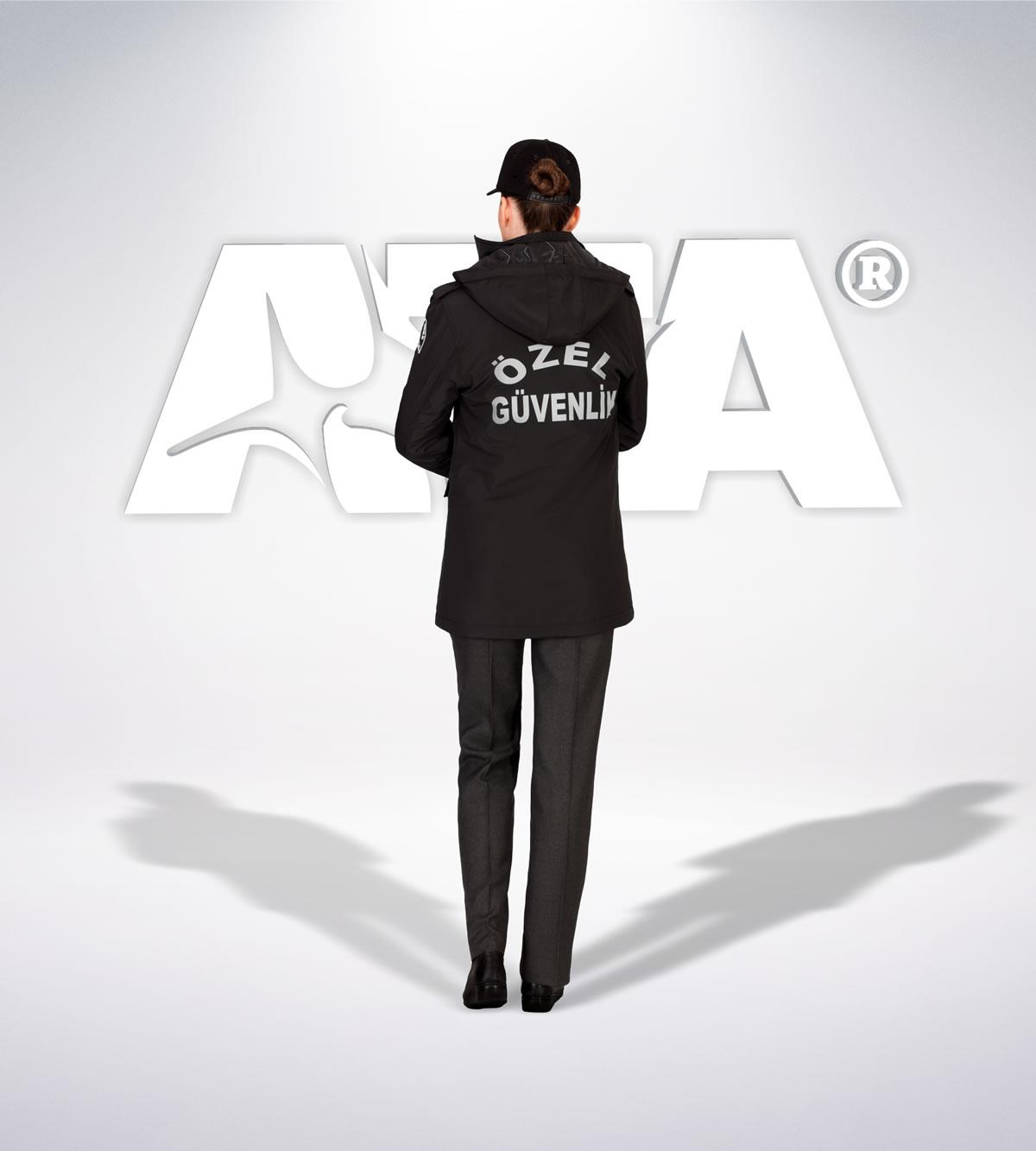 ATA 156 - arka - Pantolon kışlık - mont - reflektör-aksesuar - güvenlik elbiseleri | güvenlik üniformaları | güvenlik kıyafetleri
