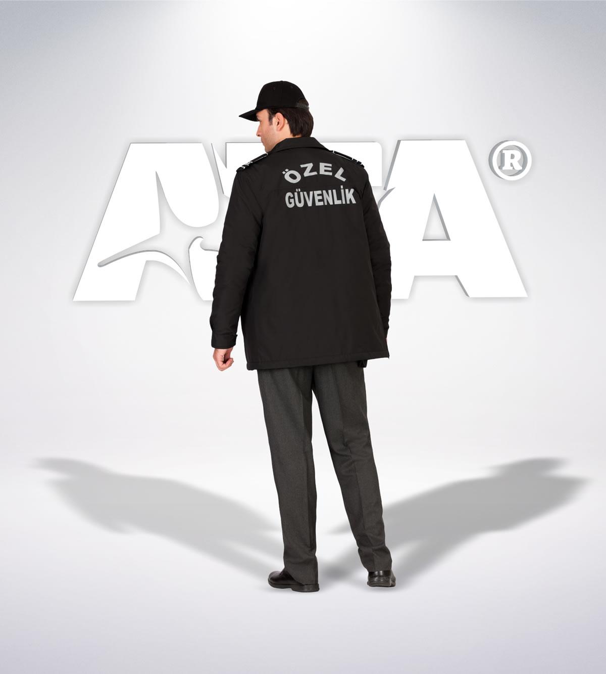 ATA 160 - arka - Pantolon kışlık - mont - aksesuar reflektör - güvenlik elbiseleri | güvenlik üniformaları | güvenlik kıyafetleri