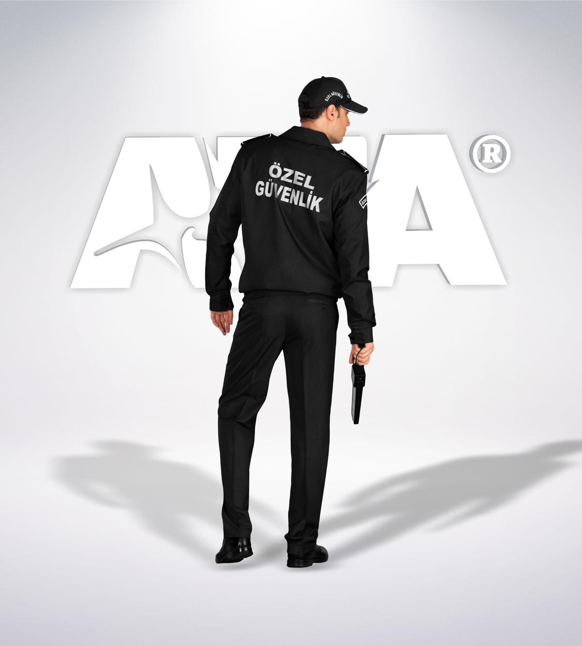 ATA 161 - arka - Pantolon kışlık - mont - aksesuar reflektör - güvenlik elbiseleri | güvenlik üniformaları | güvenlik kıyafetleri