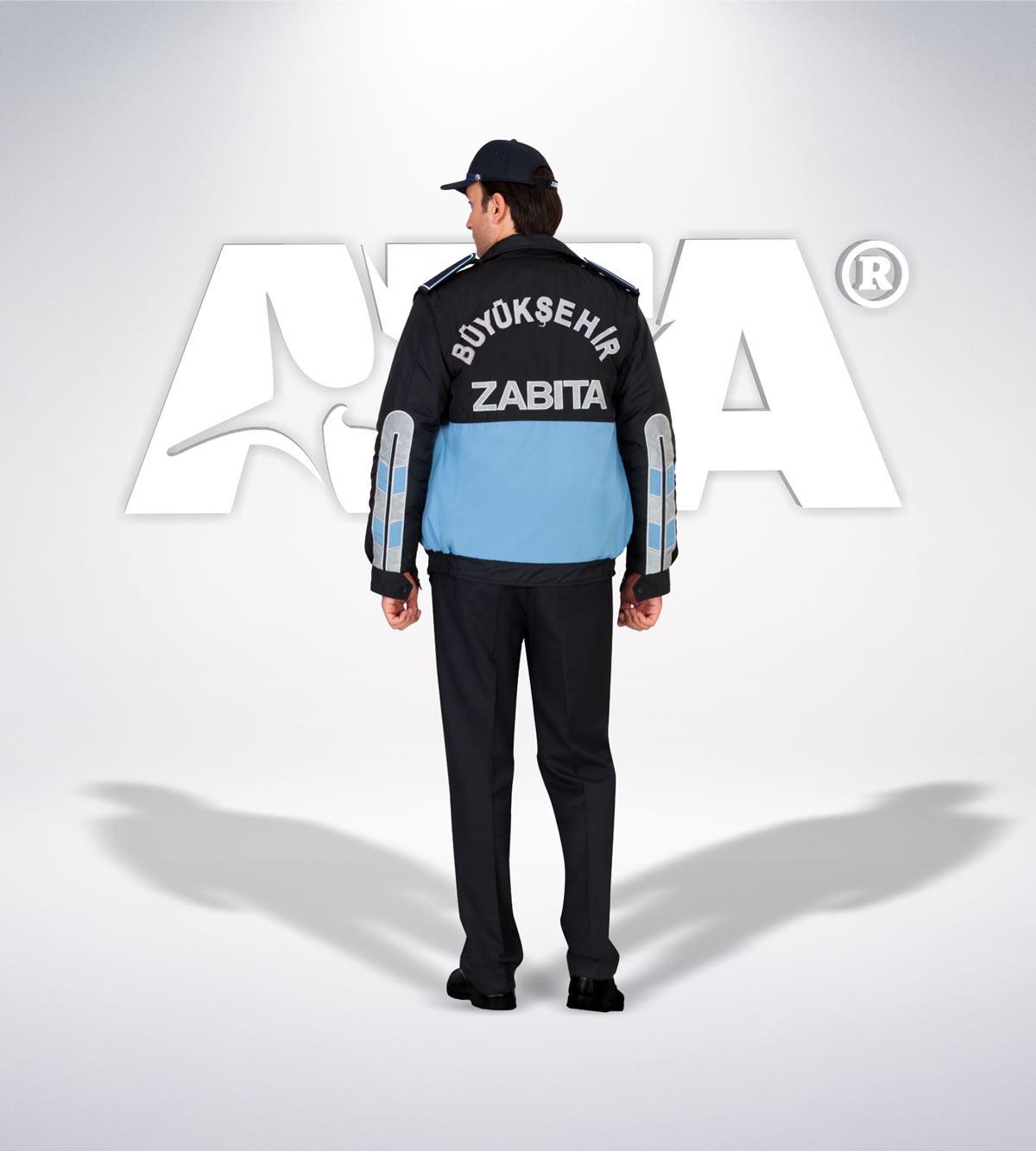 ATA 215 - arka - Pantolon kışlık -mont-reflektör-aksesuar - zabıta elbiseleri | zabıta üniformaları | zabıta kıyafetleri