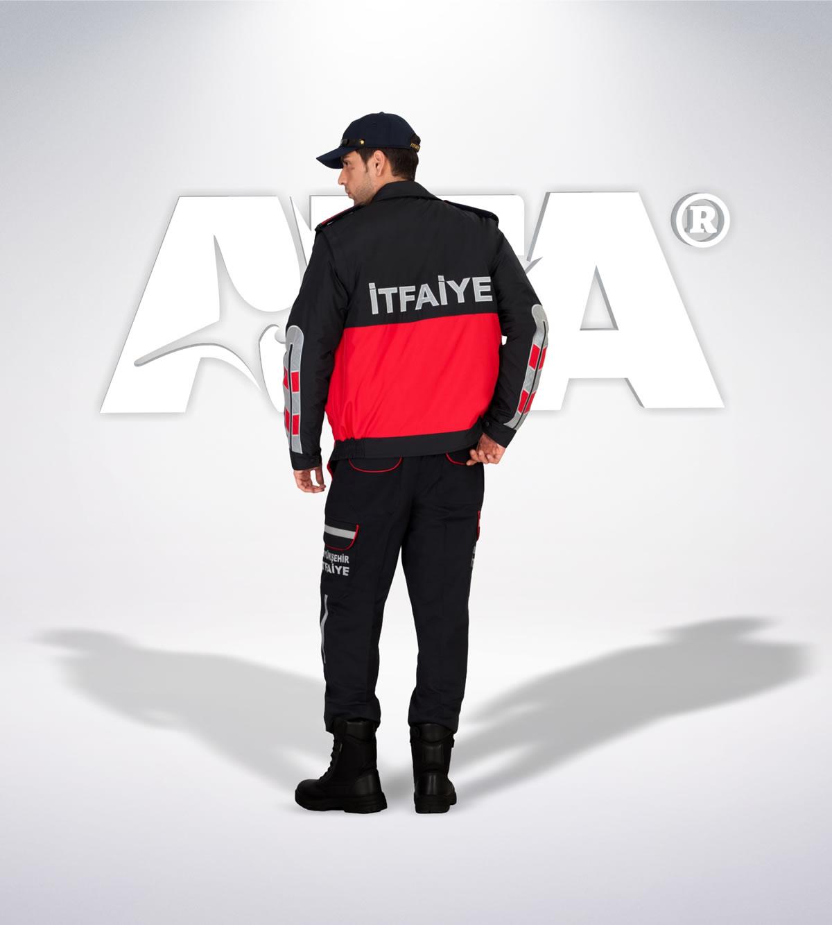 ATA 309 - arka - Pantolon ribstop - mont - aksesuar reflektör - itfaiye elbiseleri | itfaiye üniformaları | itfaiye kıyafetleri