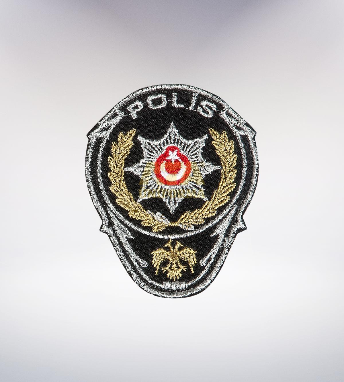 ATA-1040 Polis nakışlı arma - polis elbiseleri   polis üniformaları   polis kıyafetleri