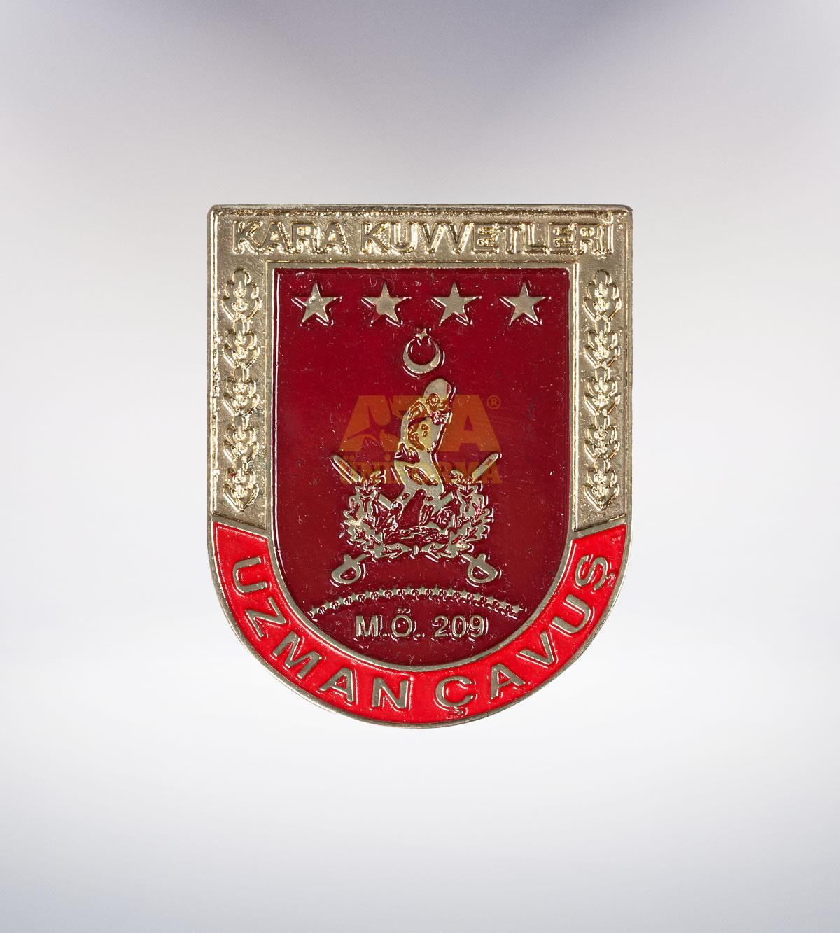 ATA-1090 Asker metal rozet - asker elbiseleri | asker  üniformaları | polis kıyafetleri